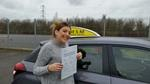 Jasmin Pitts after passing driving test