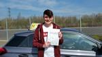 First time driving test pass for Nathan Dodd