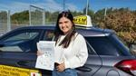 Amelia Mcavoy-Jones after passing driving test at Shrewsbury