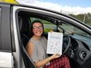 Rosie Coxhead driving test pass certificate