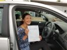 kate dryburgh passes automatic car driving test