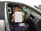 shelagh evans passing driving test