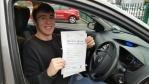 Liam Carrington afdter passing driving test
