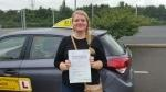 Kass Nuttall Fielding after passing driving tests