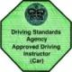 Approved driving instructor badge